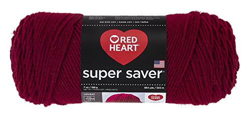Red Heart Super Saver Yarn, Burgundy -