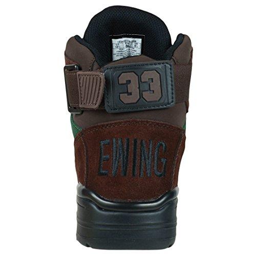 Patrick Ewing Mens Ewing 33 Salut Hiver Daim Formateurs Marron