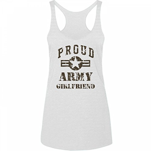 [Sexy Army Girlfriend: Junior Fit Triblend Racerback Tank Top] (Cute Army Outfits)