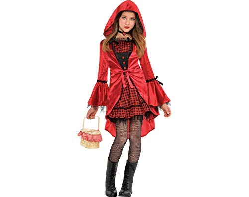 Amscan Girls Gothic Red Riding Hood Costume - Medium (8-10)