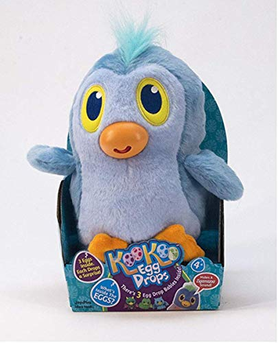 Jay at Play Koo Koo Egg Drops Plush Penguin Toy. Includes 3 Egg Drop Surprise Eggs Perfect Easter Basket Gift for Girls & Boys. Squeeze for a Surprise Toy & Hatch Adorable Collectible Egg Drop Babies