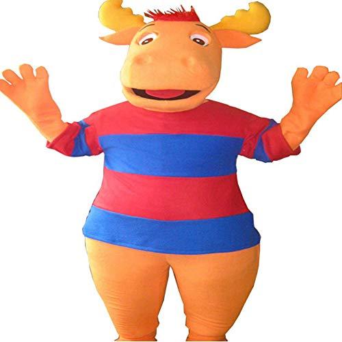 Tyrone from The Backyardigans Mascot Costume Character Cosplay Party Birthday Halloween Orange