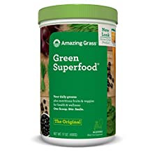 Amazing Grass Green SuperFood, 17-Ounce Tub, 1.025-Inch