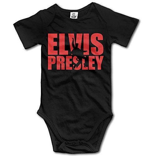 SAMMOI Elvis Presley Baby Triangle Romper Bodysuit Jumpsuit Onesie Black