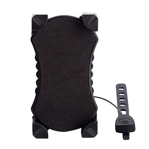 MA87 Bike Phone Mount Practical Phone Holder Phone Bracket with Speaker for Bike (Black)