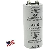 US ABS 800MFD 800uF 250V Cylindrical AC Motor Starting Capacitor