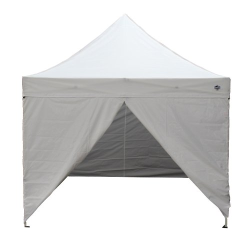 King Canopy TTSHAL10WHW 10-Feet by 10-Feet Tuff Tent Aluminum Instant Canopy with Walls and Heavy Duty Roller Bag, White