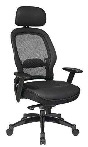 Mesh Leather Chair with Headrest