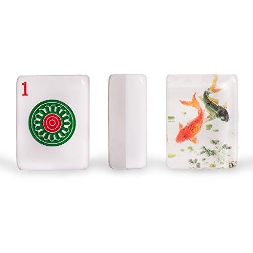 Jongg Mah Bamboo (Yellow Mountain Imports Set of 166 American Mahjong (Mah Jong, Mahjongg, Mah-Jongg, Mah Jongg) Tiles, Koi)