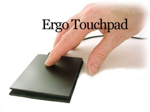 Extra Large Ergo Touchpad ETP001ELTP Wired USB - Black - Low Profile - Programmable and Multi-Touch with Download of free software - 3.814