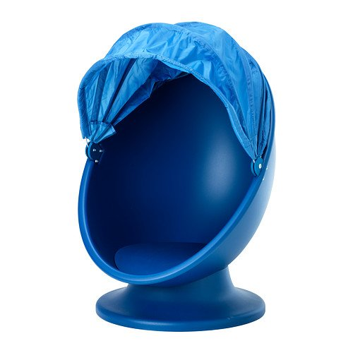 Ikea Swivel Chair  Blue  Light Blue