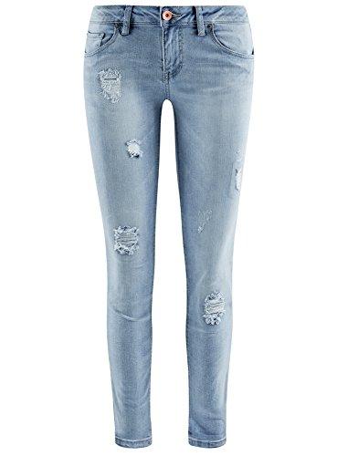 Fit Donna Ultra Jeans Con Effetto 7000w Slim Blu Oodji Invecchiato xq7fwIpA