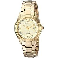 Citizen Women's Quartz Stainless Steel Casual Watch, Color Gold-Toned (Model: FE1132-84P)