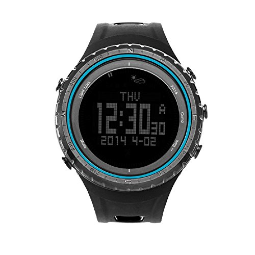 SUNROAD FR801B1 Pedometer Stopwatch Altimeter Barometer Thermometer Compass Timer LCD Display EL Backlight Outdoor Sports Watch Multifunction by SUNROAD