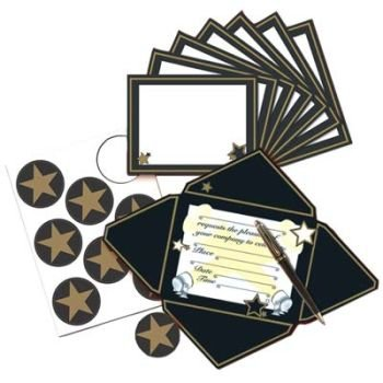 Beistle Hollywood Invitations and Seals (8 count) ()
