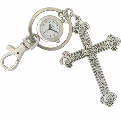Keychain / Charm Watch - Silver Cross