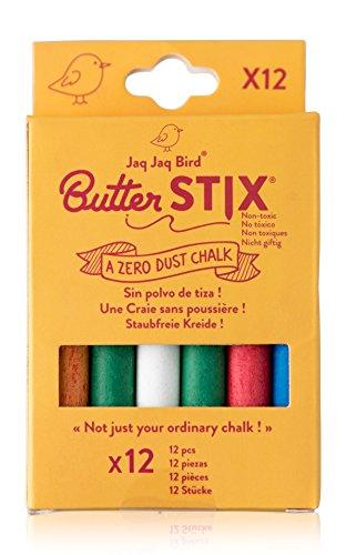 Premium Non-Toxic, Dust Free & Smudge Proof Chalk (12 Count) (Colored) (Bird Colored)