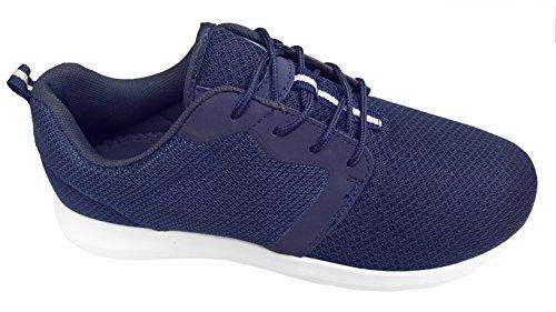 gibra Hombre Zapatillas, muy ligera y cómoda, color azul oscuro, talla 41–46, color Azul, talla 45