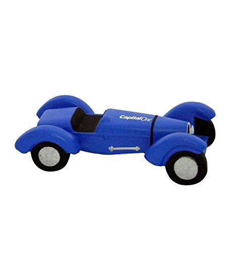 (1920's Indy Style Race Car Stress Reliever - Blue - Promotional Product - Your Logo Imprinted (Case Pack of)