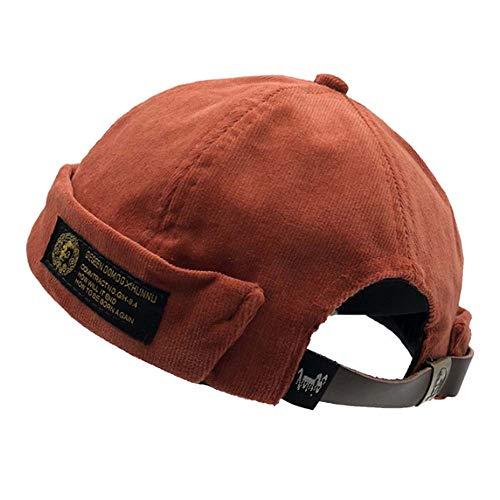 (Clape Unique Watch Cap Work Beanie Corduroy Docker Leon Brimless Hat Rolled Cuff Harbour Hat )