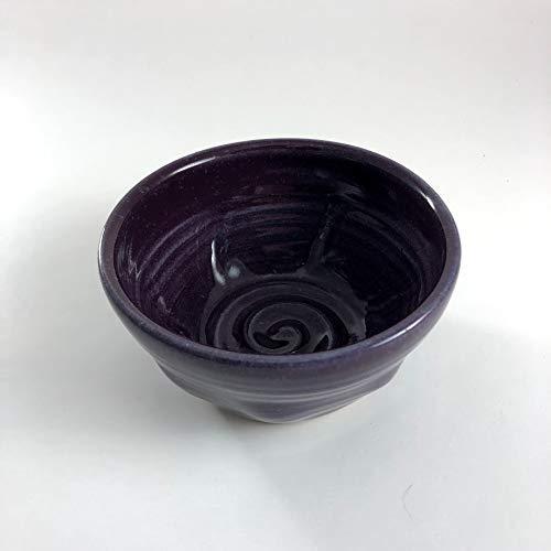 Purple Pottery - Purple Shaving Bowl - Handmade Pottery