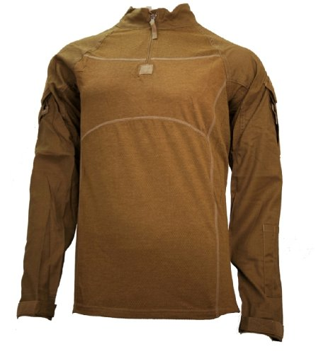 NEW BALANCE MILITARY ISSUED S7 LAYER 5 COMBAT STRETCH SHIRT - FIRE RETARDANT - COYOTE X-LARGE