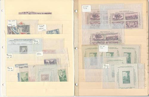 United States Stamp Collection on 3 Stock Pages, National Parks, Others