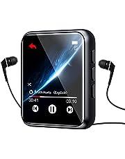 MP3-speler, Bluetooth 5.0 MP3-spelers met 1,8 inch volledig touchscreen, 16 GB HiFi Lossless Sound Muziekspeler, FM-radio, Ingebouwde luidspreker, Voice Recorder, E-book, Ondersteuning tot 128 GB
