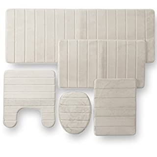 Townhouse Rugs 5pc Memory Foam Bathroom Set Combo Beige Pecan B018869n8w Amazon Price Tracker Tracking History Charts Watches Drop Alerts Camelcamelcamel Com