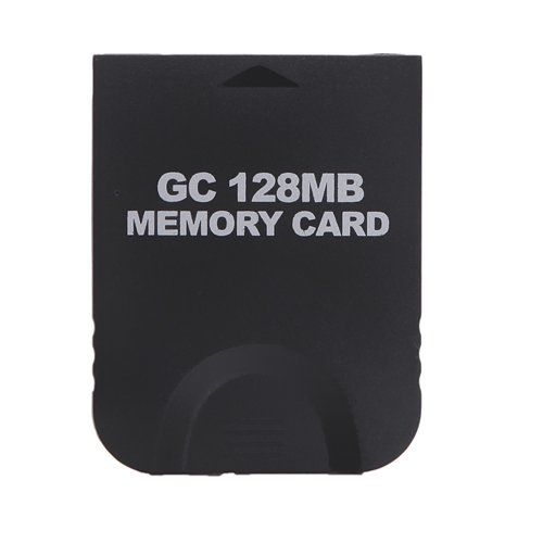 HDE 128MB (2048 Blocks) Black Memory Card for Nintendo GameCube or Wii - Ram Memory Card