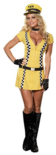 Dreamgirl Womens Tina The Taxi Driver Outfit Fancy Dress Sexy Costume, L (10-14) - Taxi Driver Costume Female