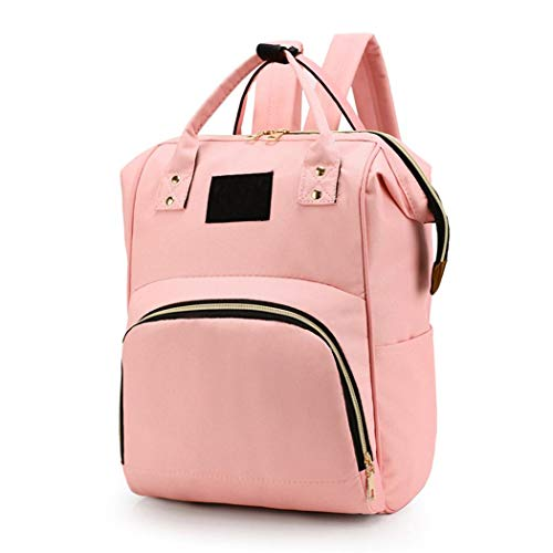 Abolish Women Casual Solid Double Zippers Large Capacity Backpack Mummy Bag Swim Diapers