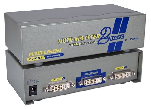 QVS MDVI-12H 2Port DVI, HDTV Digital Video Splitter & Distribution Amplifier with HDCP