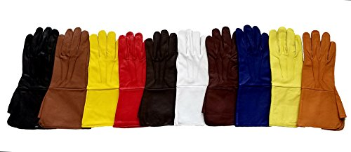 Yellow Ranger Gloves (Parade, Marching ,Power Ranger, SuperHero Leather Gloves (Yellow, Small))