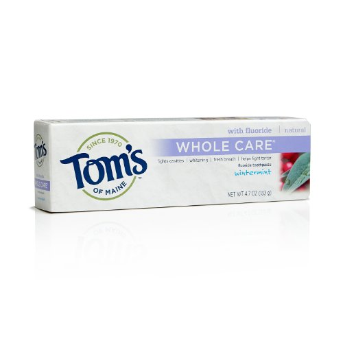 Tom's of Maine Whole Care Flouride Toothpaste, Wintermint, 4.7 Ounce