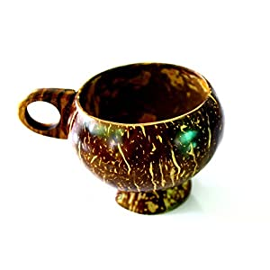 1 Pcs Real Natural coconut shell coffee tea cup mugs handcraft vintage style in Thailand