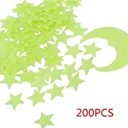 Glow in The Dark Stars - Glow Stars Stickers for Ceiling, 3D Glowing Stars,Wall Decals for Kids Rooms,Wall Sti