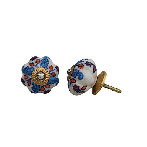 IndianShelf Handmade 13 Piece Ceramic Blue Ocean Vintage Dresser Knobs/Cabinet Kitchen Pulls