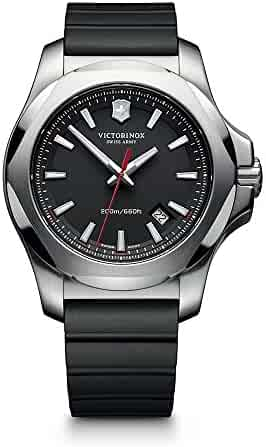 Victorinox Swiss Army Men's 241682.1 I.N.O.X. Watch with Black Dial and Black Rubber Strap