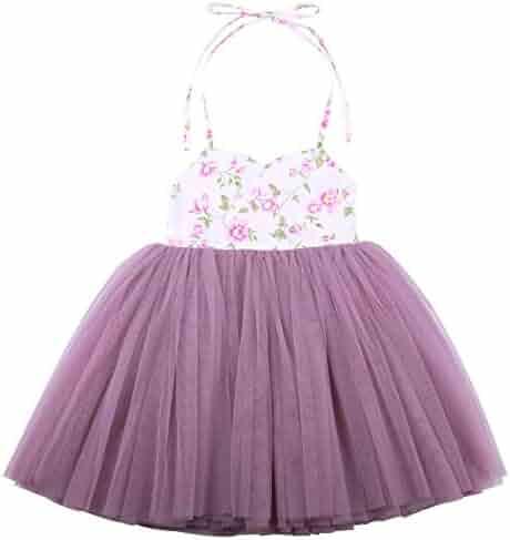 FYMNSI Infant Baby Girls 1st//2nd//3rd Birthday Cake Smash Sleeveless Princess Dress