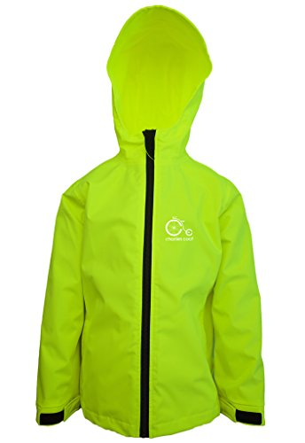 (Charlies Coat Big Boys Reflective Airplane Waterproof Jacket Medium Neon Yellow)