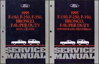 1995 Ford Pickup Truck Repair Shop Manual Set F150 F250 F350 Super Duty Bronco