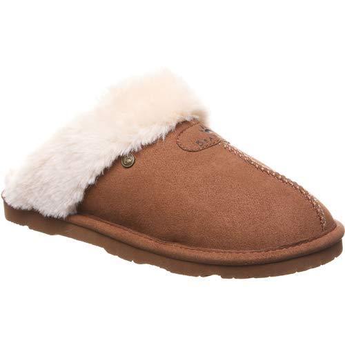 Bearpaw Loki Vegan - Women's Slipper Hickory - 9 Medium (Bearpaw Womens Slippers)