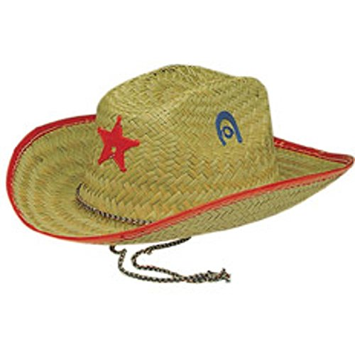 [Child's Straw Sheriff Cowboy Costume Hat] (Sheriff Hats For Sale)