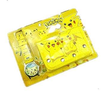 Ruda - Traje de regalo para niños de Pikachu Cartoon reloj y ...