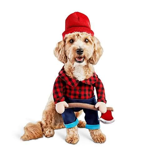 Bootique S Dog Costume Halloween Lumberjack Hat Ax Plaid Shirt Small