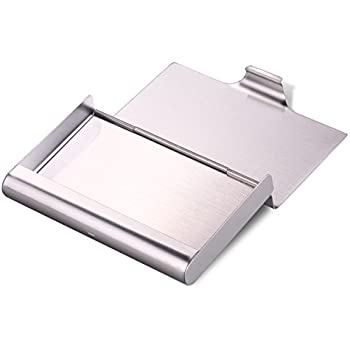 Amazon maxgear professional business card holder titanium hawatour super capacity business card holder case for holding 35 business cards stainless steel name card case colourmoves Choice Image