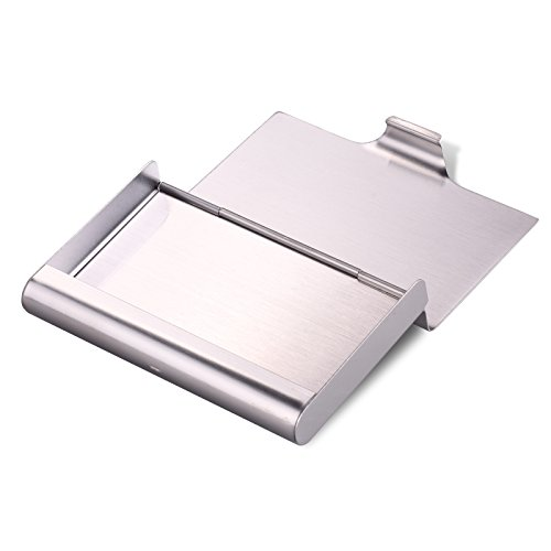 Hawatour Super Capacity Business Card Holder Case for Holding 35 Business Cards Stainless Steel Name Card Case