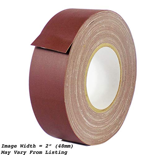 MAT Gaffer Tape Burgundy Low Gloss Finish Film - 6 in. x 60 Yards - Residue Free, Non Reflective, Better Than Duct Tape (Available in Multiple Colors)