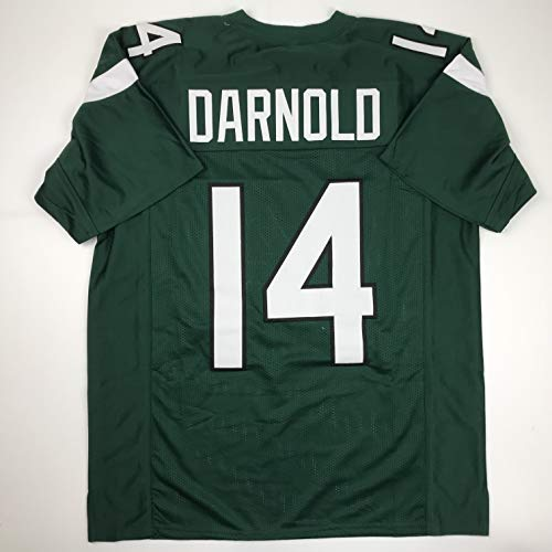 Unsigned Sam Darnold New York 2019 Green Custom Stitched Football Jersey Size XL New No Brands/Logos from Hall of Fame Sports Memorabilia